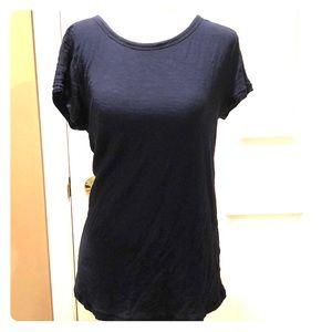 Basic navy blue organic cotton t-shirt